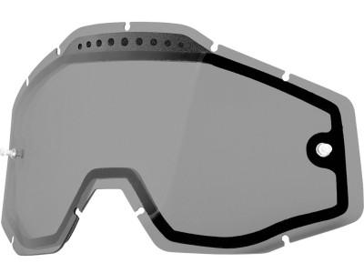 Линза 100% для Racecraft/Accuri/Strata двойная вентилируемая Anti-Fog Smoke