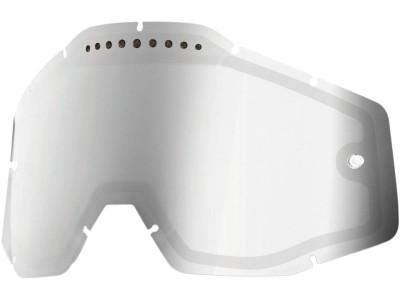 Линза 100% для Racecraft/Accuri/Strata двойная вентилируемая Anti-Fog Mirror Silver