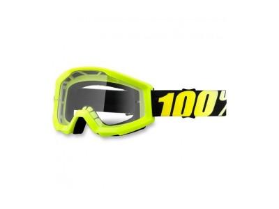 Маска 100% Strata Neon Yellow Clear Lens