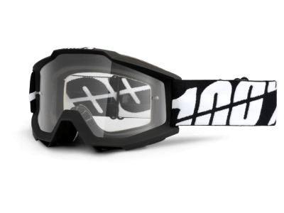 Маска 100% Accuri Black Tornado Clear Lens (50200-061-02)