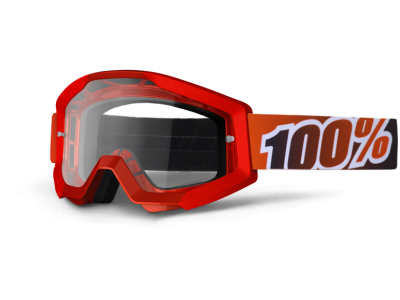 Маска 100% Strata Fire Red Clear Lens (50400-003-02)