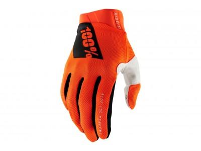 Перчатки 100% Ridefit (Fluo Orange, 2021)
