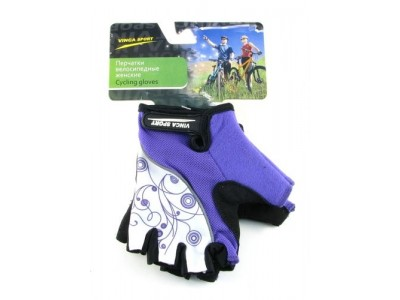 Перчатки велосипедные VINCA VG927 white-violet