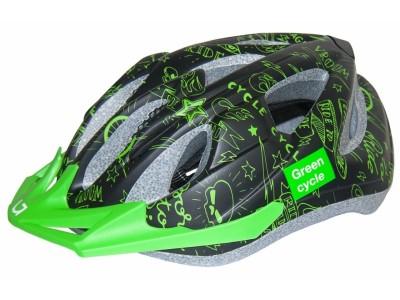 Шлем детский Green Cycle Fast Five Black-Green