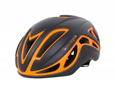 Велошлем Green Cycle Jet Black-Orange