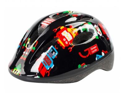 Шлем детский Green Cycle ROBOTS black