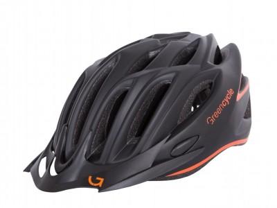 Велошлем Green Cycle Rock Black-Orange