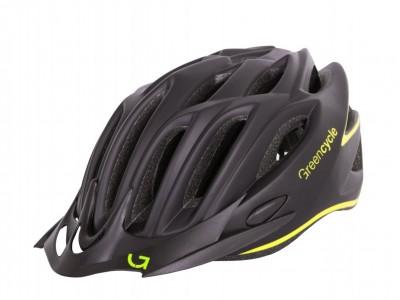 Велошлем Green Cycle Rock Black-Yellow