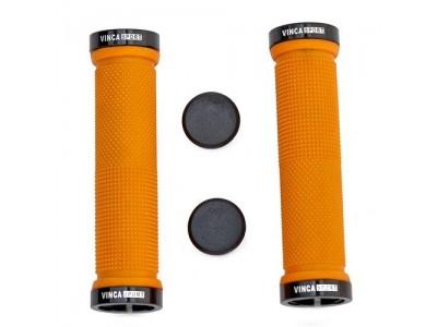 Грипсы с зажимами Vinca sport H-G 119 orange/black