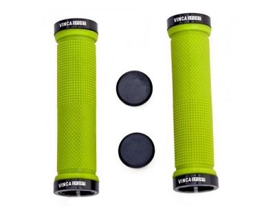 Грипсы с зажимами Vinca sport H-G 119 green/black