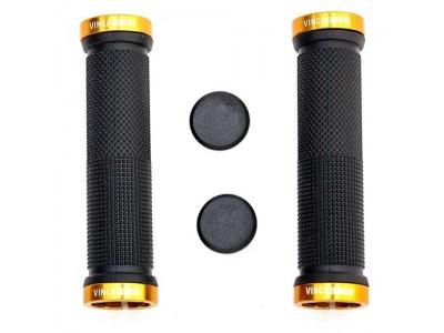 Грипсы с зажимами Vinca sport H-G 119 gold/black